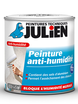 les produits de anti humidit peintures julien. Black Bedroom Furniture Sets. Home Design Ideas