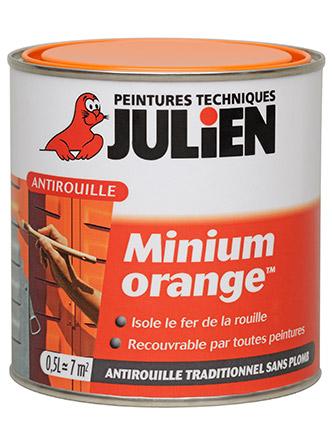 Minium orange peintures julien - 2eme couche de peinture sans trace ...